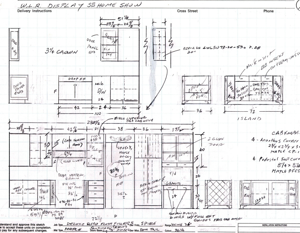 Kitchen Cabinet Detail Drawing